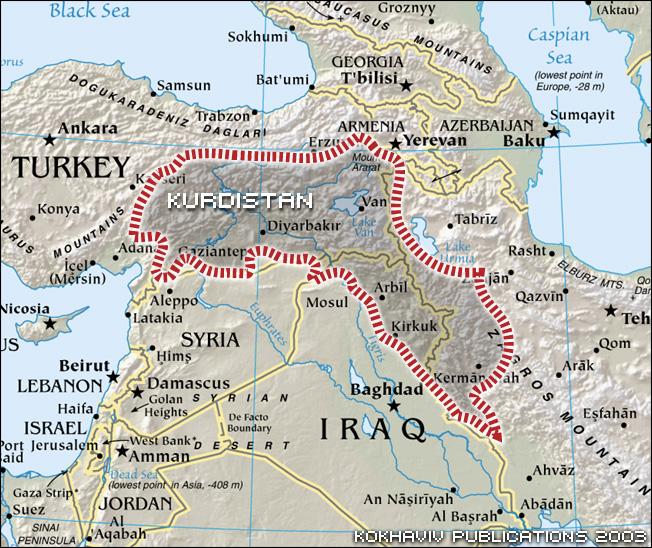 news-kurdistan map- media